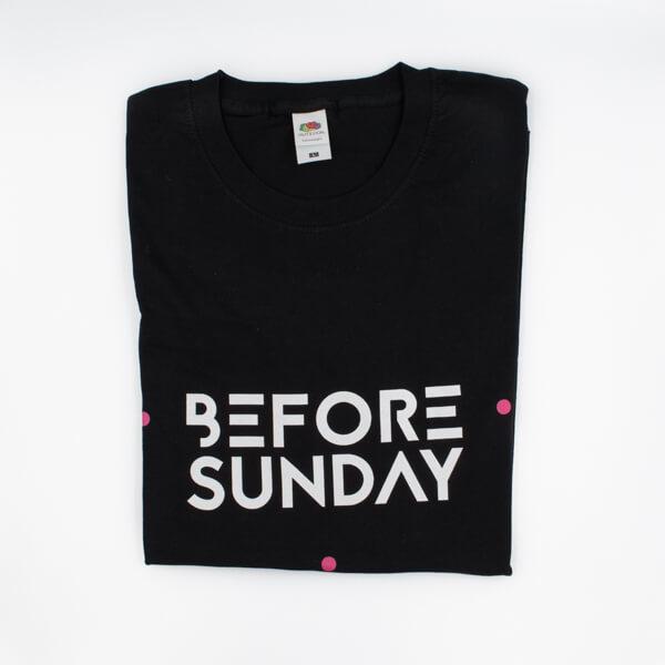 Before Sunday Logo T Shirt Black 2